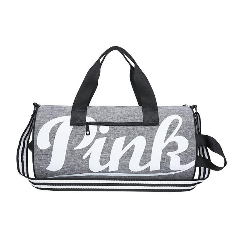 2019 2018 Pink Letter Gym Bag Shoulder Bag Pink Gym Women Duffle Sport For  Men Fitness Yoga Backpack 20L Bolsa Deporte Marca From Hcaihong c36d3b7d34c27