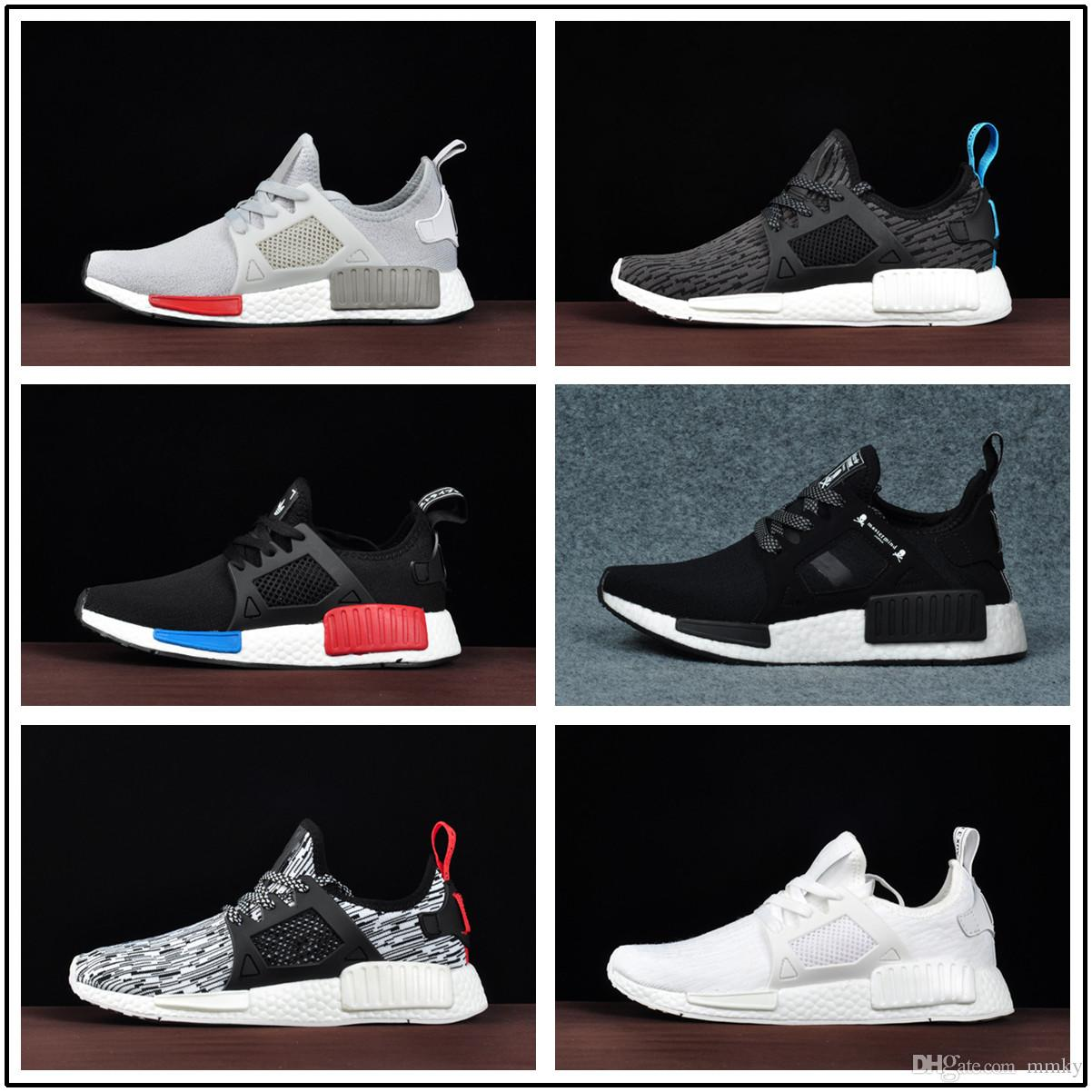 a492cc7e6 2018 Wholesale Discount Cheap Pink Red Gray NMD Runner R1 Primeknit PK Low  Men S   Women S Shoes Classic Fashion Sport Shoes Womens Shoes Cheap Shoes  From ...