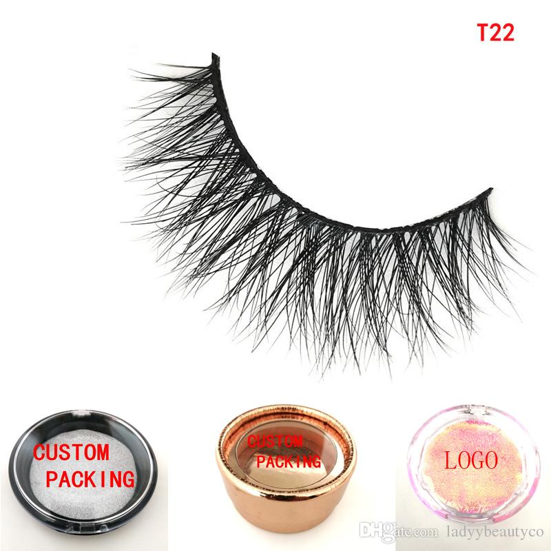 3D sexy winged lashes crisscross strip 3D mink lashes makeup tools OEM  Private logo custom box