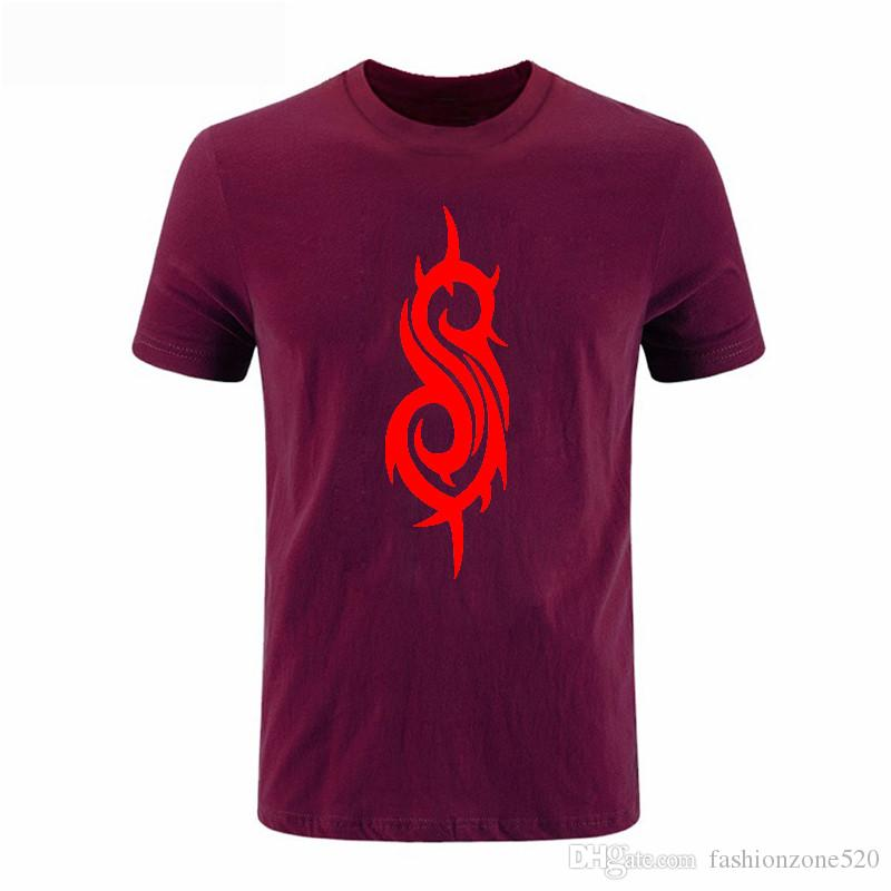 Summer Style Printed Slipknot Rock Band T Shirts Punk Hiphop Round Collar T-shirt Cotton Men Size S-XXXL DIY-0294D