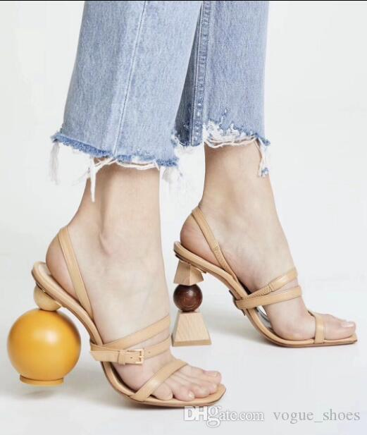 86c01ae456c New Arrivals Abnormal Strange Style Sandals Women Shoes Summer Building Block  Heeled Sandals Nude Black Lady Sexy Dress Shoes Banquet Ladies Sandals  Girls ...