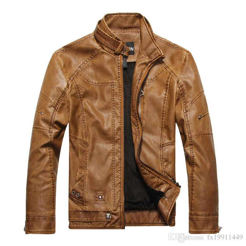 26e41797f Leather & Suede Plus Velvet Motorcycle PU Leather Jackets Men 2016 New  arrived Autumn Winter Business casual fashion coats