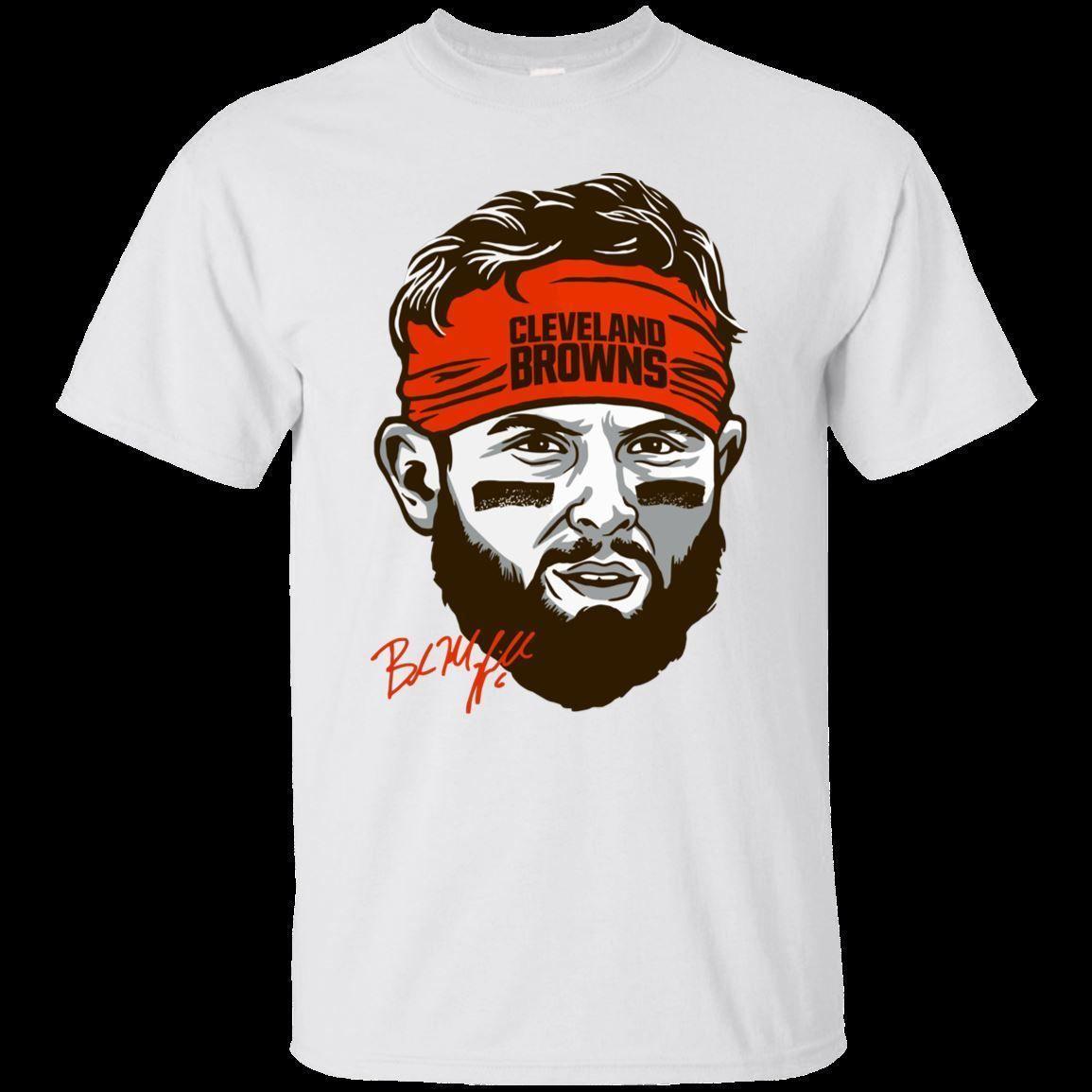 new product a520e 36c82 Baker Mayfield Face T-shirt Top tees Football Men s Tee Short Sleeve