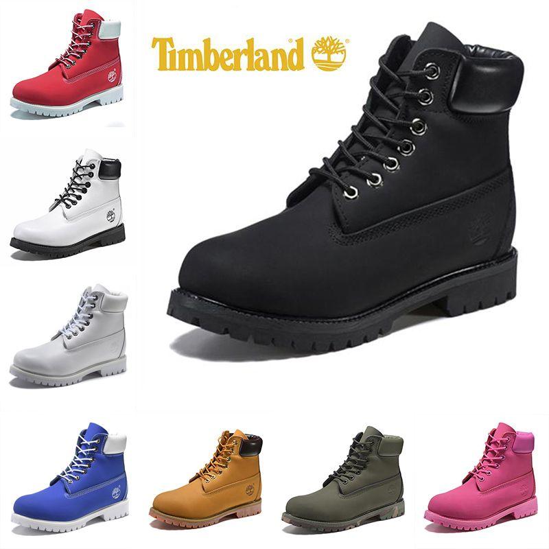 New Timberland Boots Men Women Winter Boots Yellow Black White ... 342c90e1b113