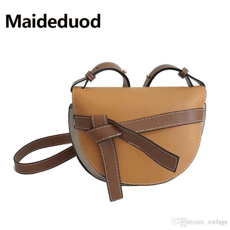 3799ef0909 Free shipping Women messenger bags new spring/summer New inclined shoulder  bag women's bowknot leather handbags Bag Lady's satchel