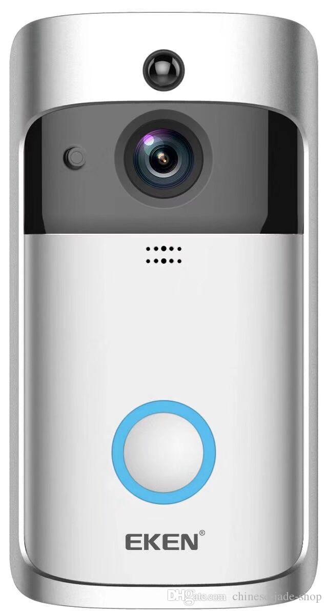 Sonnette sans fil EKEN Home Video 2 720P HD Wifi Vidéo en temps réel Audio bidirectionnel Vision nocturne Détection de mouvement PIR avec cloches