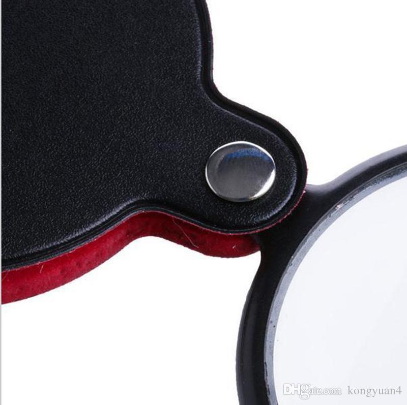 Portátil Mini 50mm 8X Bolsillo Plegable Joyería Lupa Lectura Lupa Ojo Lupa Lente de vidrio Joyería plegable Bucle Joyería Lupas