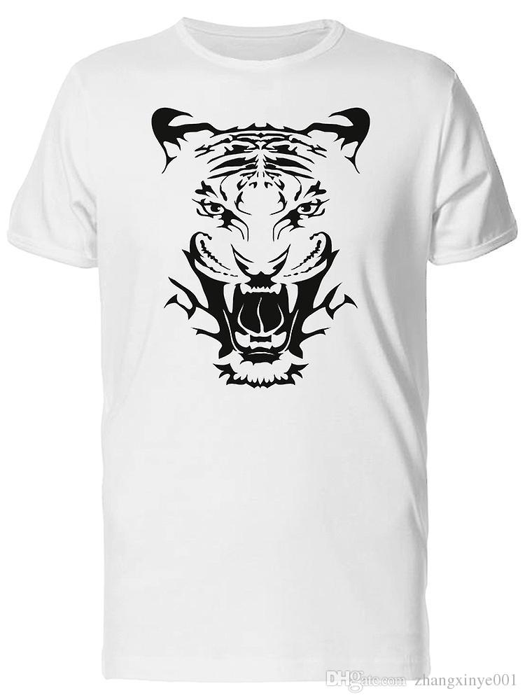 Amazing Angry Tiger Face Tee Mens Image By Shutterstock T Shirt