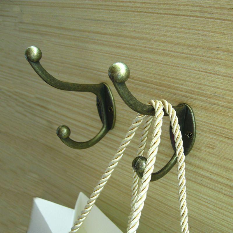 Vintage Bronze Wall Hook Coat Bag Hat Hanger Robe Hooks Wall Hanging Hooks Home Kitchen Wall Door Holder