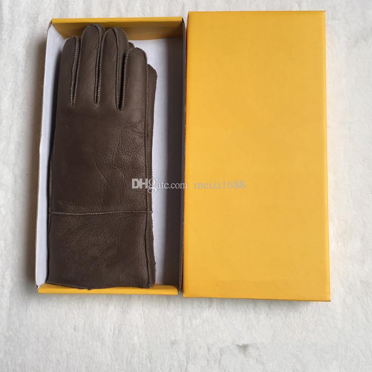 Высококачественные дамы мода повседневные мужские перчатки кожаные термальные женские шерстяные перчатки в разнообразии цветов