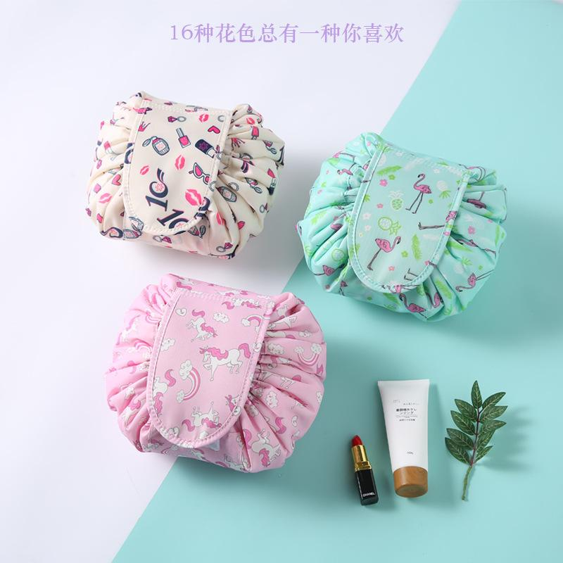 c60b64c1b3 2019 Quiver Sonic Boom Makeup Bag Travel Artifact Small Fresh Collection Bag  Lazy Man Pull Rope Makeup Bag From Haixin668