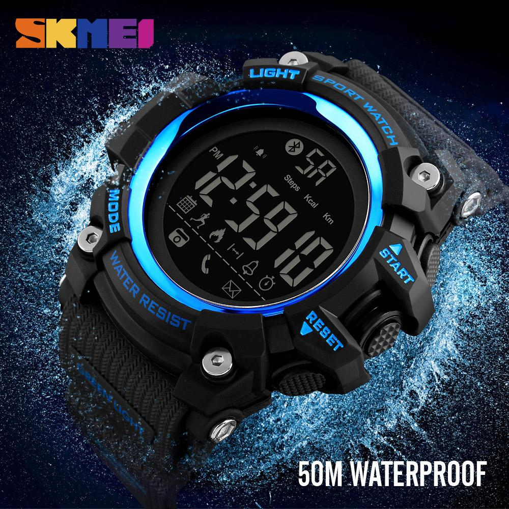 Famous Top Brand Luxury SKMEI 1385 Bluetooth Calorie Smart Digital Watch  Outdoor Sports Clocks Hours Waterproof Watches Clearance Watches High  Quality ...
