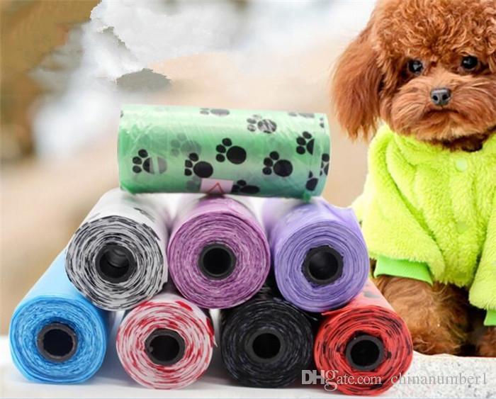애완 동물 용품 개 똥 가방 폐기물 국자 가죽 끈 디스펜서 G229에 대한 생분해 성 다중 색상
