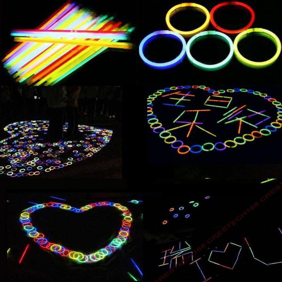 20 см свечение многоцветный браслет ожерелья неоновая вечеринка свет палка палочка новинка игрушка вокальные концертные палочки
