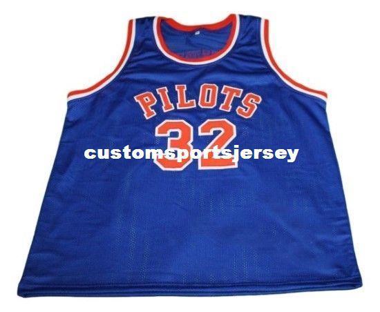 a7c7967354b9 Compre Venta Al Por Mayor Jason Kidd   32 Pilotos High School Basketball  Jersey New Blue Stitched Personalizado Cualquier Número Nombre Hombres  Mujeres ...