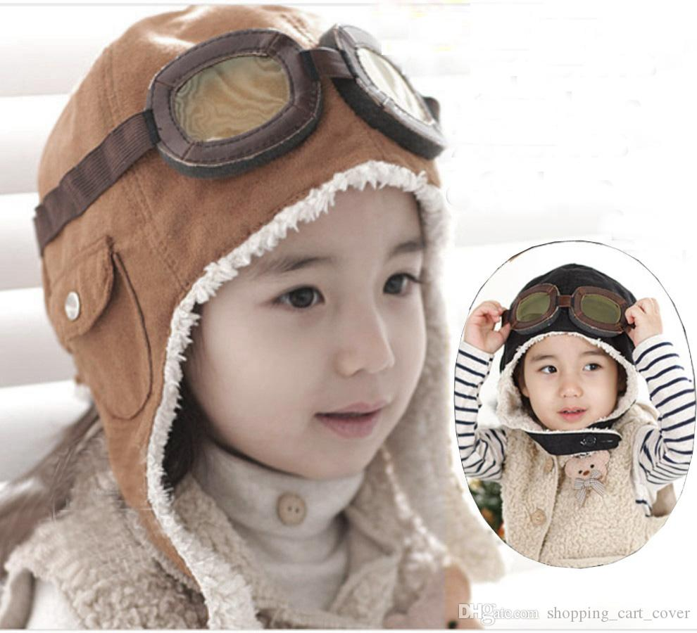 406e9858175 2019 New Fashion Winter Warm Baby Kid Toddler Infant Child Children Boy  Girl Winter Earflap Pilot Cap Aviator Hat Beanie Flight Helmet From ...