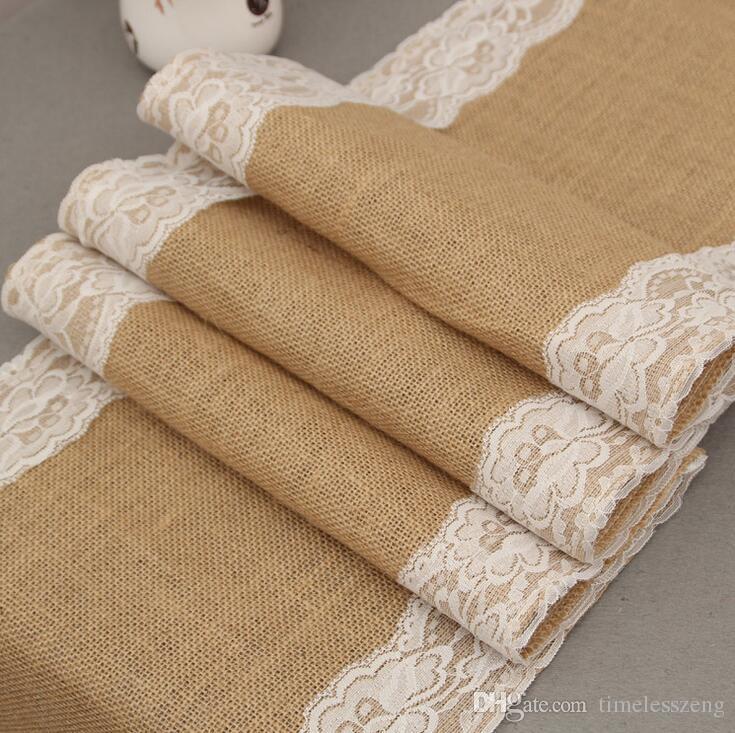 Tovaglia in lino con bandiera in pizzo runner in stile europeo moda tovaglie matrimonio copertura della sedia decorazione di natale decorazioni la casa