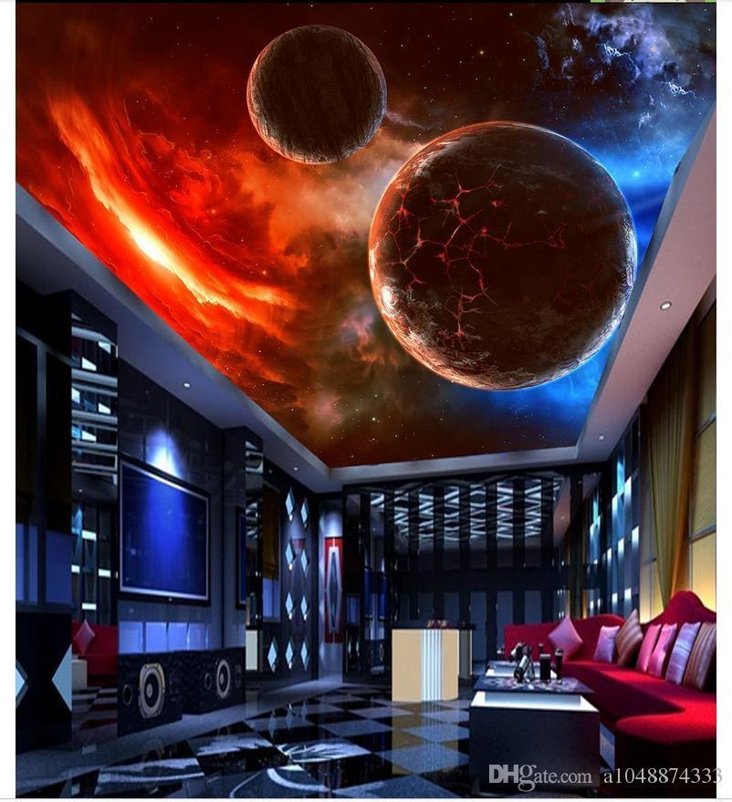 3d wallpaper custom photo 3d decke wandbild tapete ausgesetzt meteoriten kosmischen sternenhimmel 3d wand wohnzimmer wandbilder tapete wohnkultur