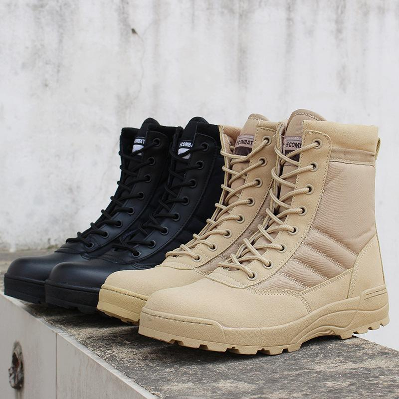 1d6c86cf1cd Autumn Winter Men Desert Tactical Boots Mens Work Safty Shoes SWAT Army  Boot Waterproof Work Shoes Ankle Combat Boots