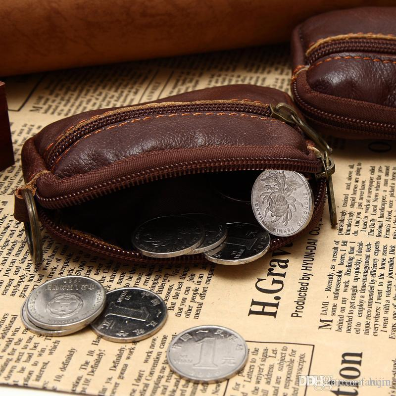 9d926e0497089 Wholesale Mini Size Real Leather Coin Bag With Zipper Classic Style Real  Leather Coin Wallet Credit Card Holder Purse Belt Fasten Designer Wallets  Wallet ...