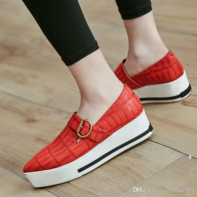694dea29c3d Women s Slope Heels Black Apricot Pointy Toe Heavy-bottomed Wedges ...