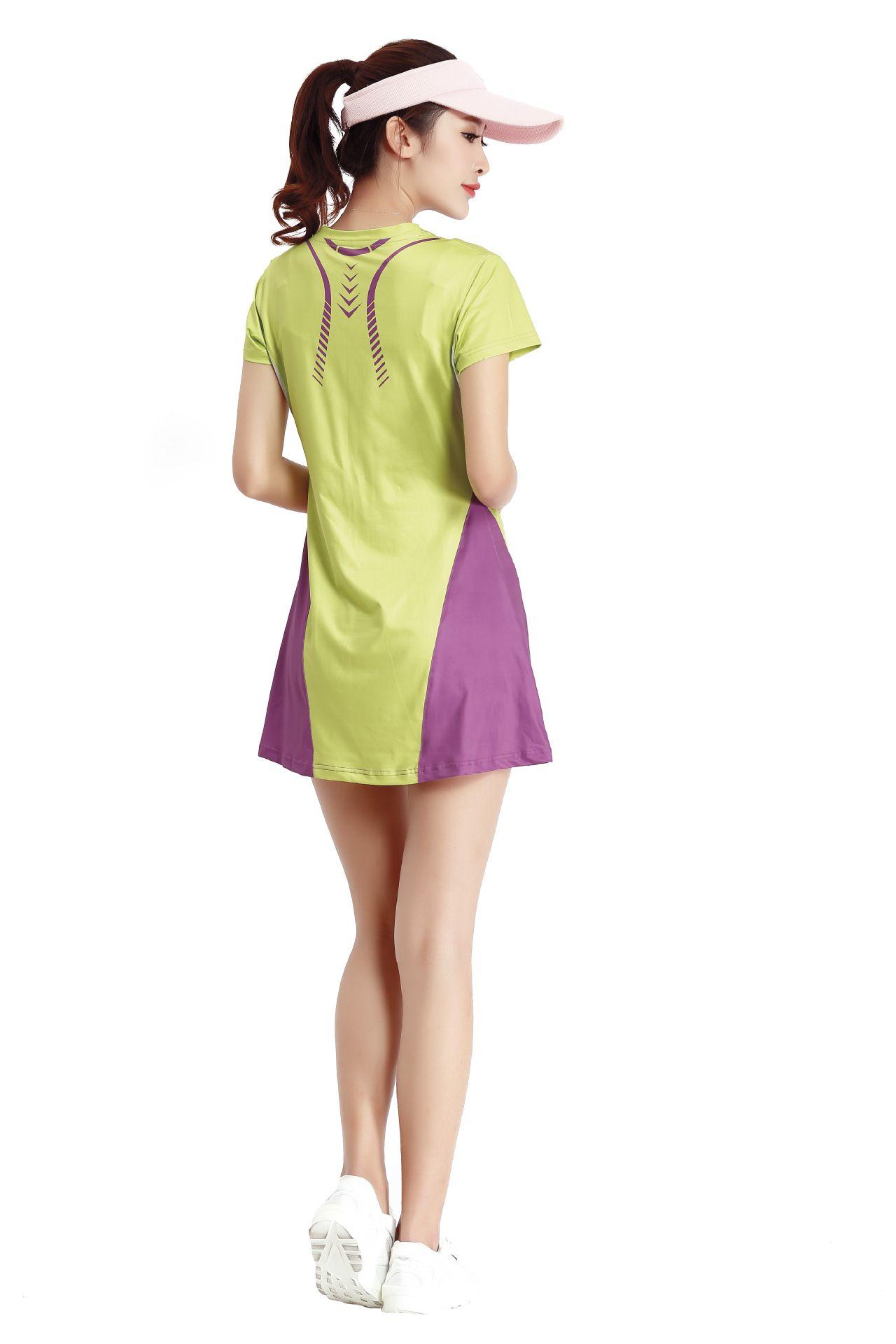 Лето новый бадминтон платье костюм тонкий теннис юбка команда спортивная юбка бадминтон платье спортивная юбка 2 цвета