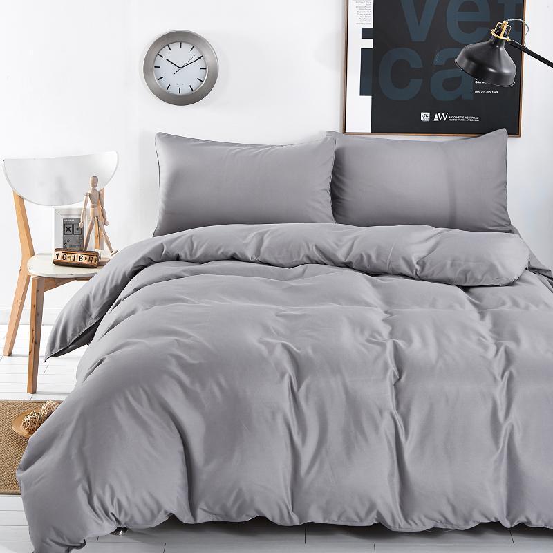 New Design Solid Color Design 40040 Bedding Sets Of Mattresses Bedspread Sets Flat Pillowcase FullQueenKingSuper King Siz Enchanting Designer Bedroom Sets