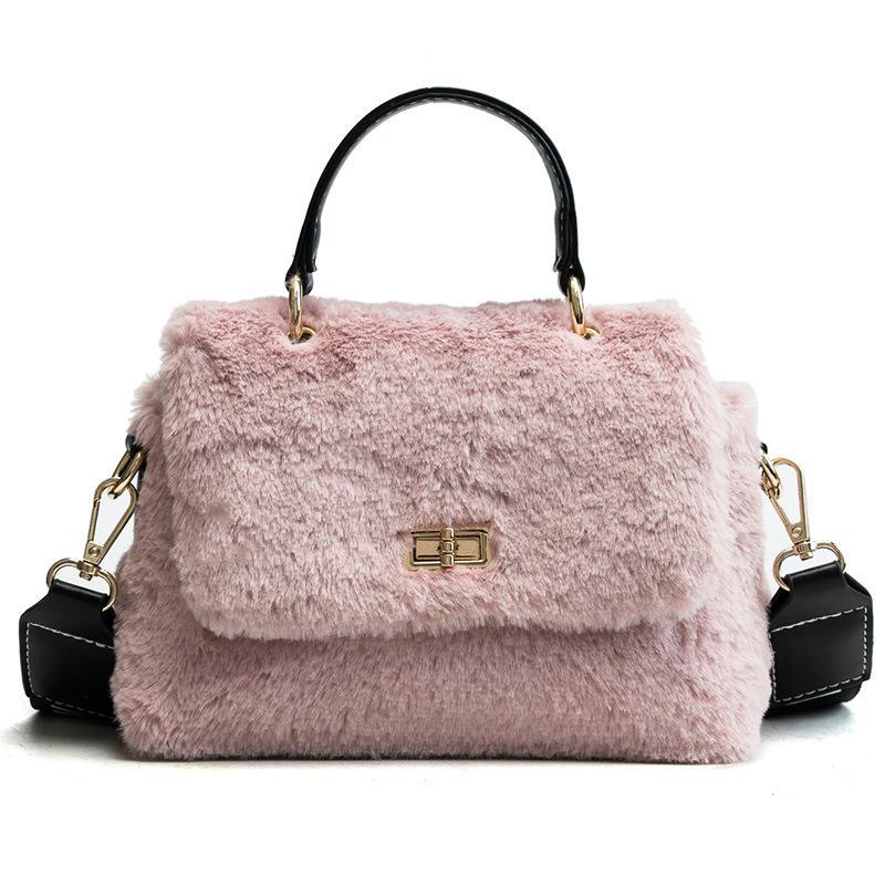 b824b372dbe5 Faux Fur Women Small Handbag Velvet Winter Fashion 2018 New Crossbody Bag  Shoulder Bag For Lady Cute Designer Girl Messenger Leather Purse Womens  Purses ...