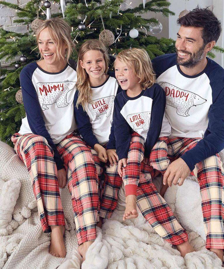 953b716ed2c3 Family Christmas Pajamas Set Warm Adult Kids Mommy Daddy Sleepwear ...