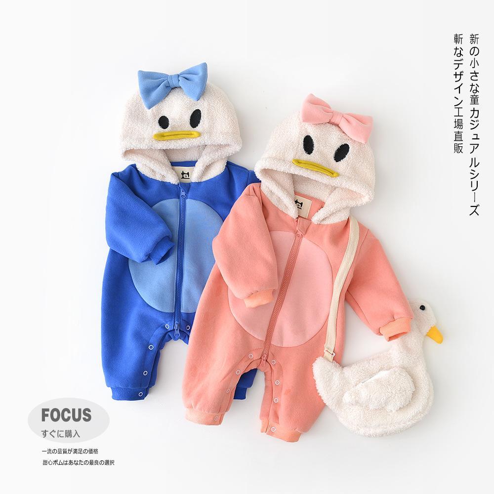 23b02936652c Baby Kids Clothing Romper Hooded Dark Design Zipper Long Sleeve Warm ...