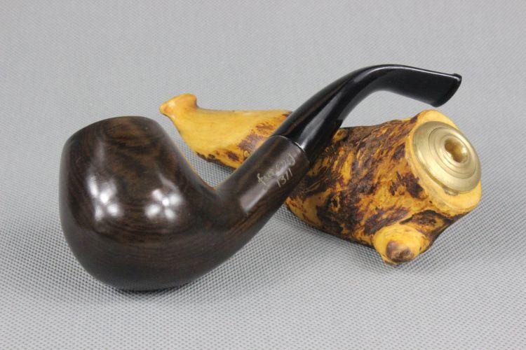 Ebony pipe bending type tobacco smoking bucket bucket handle manual wholesale with 9mm filter