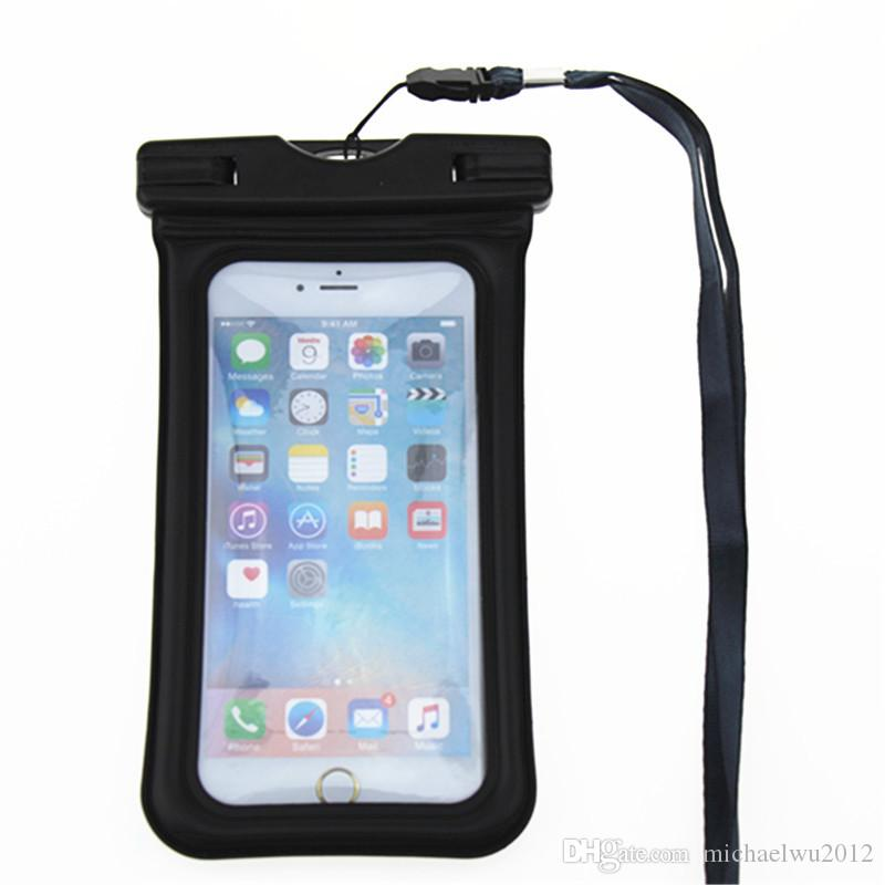Float Airbag Design IPX8 Waterproof Dry Pouch Case Transparent Universal Waterproof Bag Mobile Phone Case For iPhone 6 6s