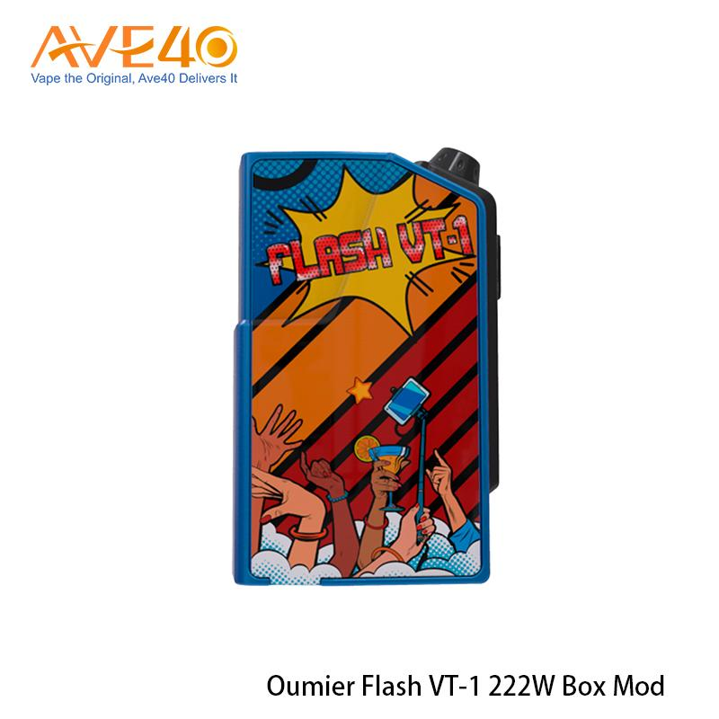 Genuine OUMIER Flash VT-1 222W TC Box MOD Powered by Dual 18650 cells Lightweight Electronic Cigarette Box Mod 100% Original