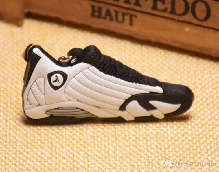 hot fashion Basketball Shoes Keyrings Chain Rings Charm Sneaker Keychains Hanging Accessories small Sneakers keyring KeyChain DHL
