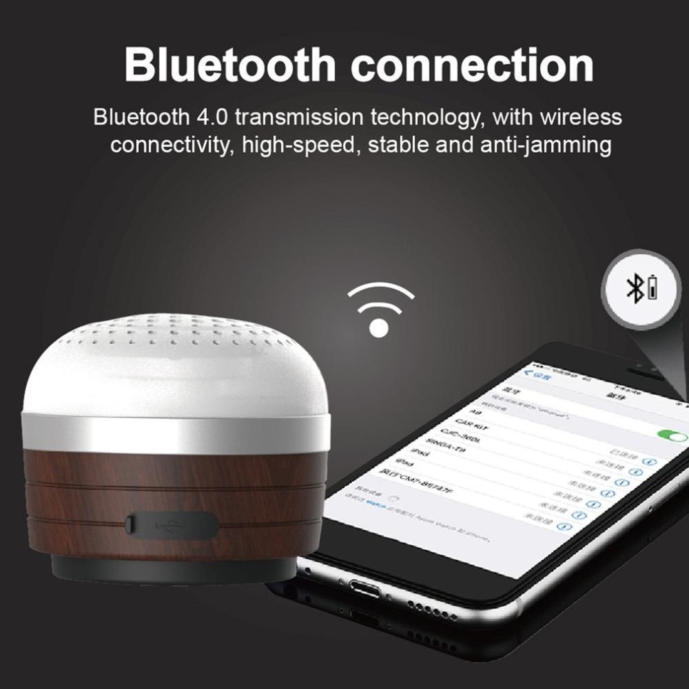 Großhandel holz bluetooth lautsprecher mini camping licht multifunktions notlicht außenzelt lampe musik player von kupaoliu 64 33 auf de dhgate