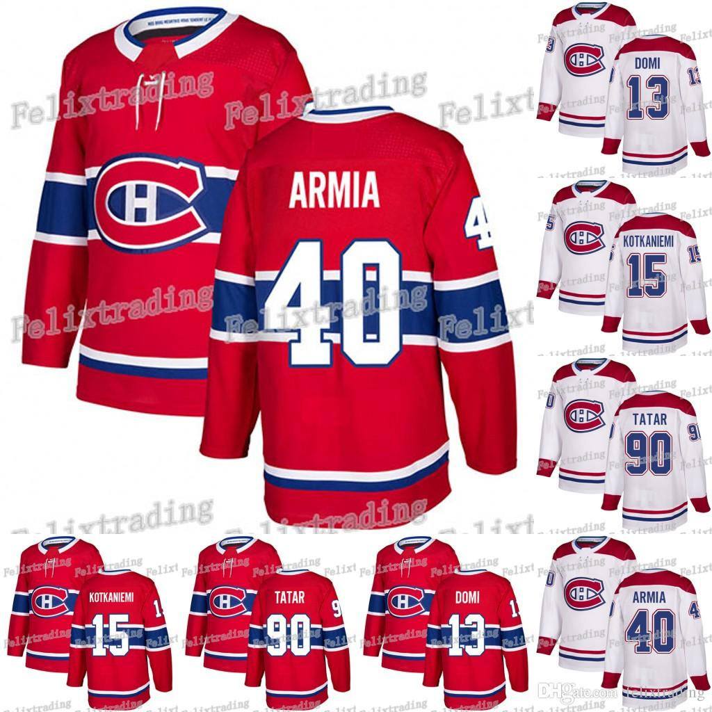 2f0f6310b 2019 40 Joel Armia Montreal Canadiens Max Domi Carey Price Shea Weber  Jesperi Kotkaniemi Tomas Plekanec Jonathan Drouin Karl Tomas Tatar Jerseys  From ...