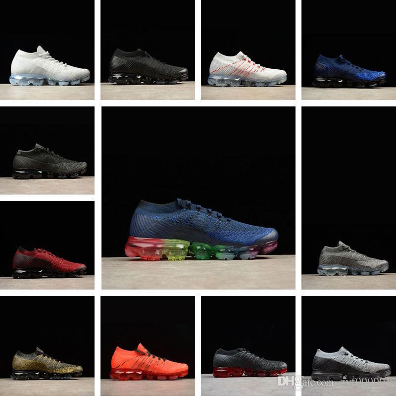 7d01dfaea2 Acheter 2018 Nike Air VaporMax Flyknit 2 Hommes Chaussures De Course Pour  Hommes Sneakers Femmes Mode Sport Athlétique Chaussures Chaude Croix  Randonnée ...
