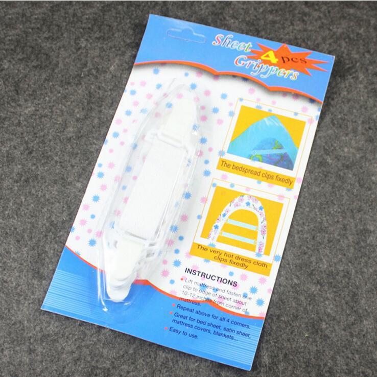 Vente chaude / set Draps Couverture De Matelas Couvertures Pinces Clip Titulaire Attaches Élastique Ensemble Draps Supports Clips