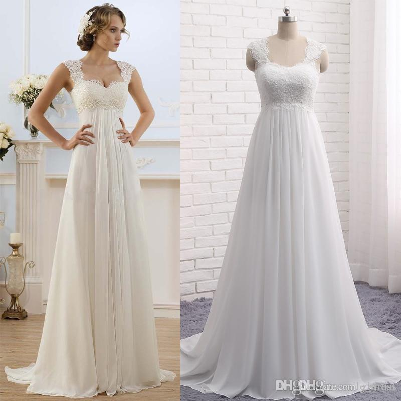 6c7ebe4febf Discount Cheap Summer Beach Maternity Wedding Dresses A Line Sweetheart  Lace Beads Empire Waist Pregnant Bridal Gowns Bohemian Beach Wedding Dress  Simple ...