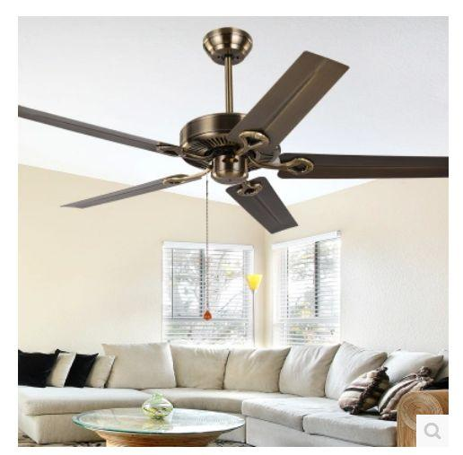 52inch continental retro ceiling fan without a light leaf ceiling 52inch continental retro ceiling fan without a light leaf ceiling fan iron modern and simple iron no lights ceiling fans cheap ceiling fans 52inch aloadofball Images