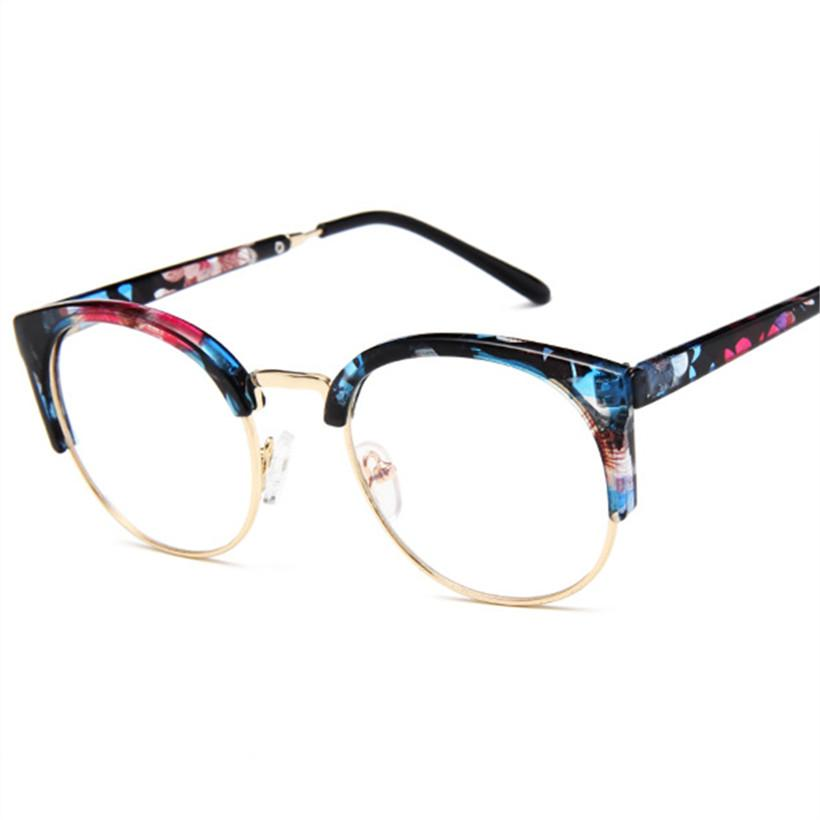 c002eb8a64 VBNMTransparent Glasses Women Cat Eye Eyeglasses Frames Men Half ...