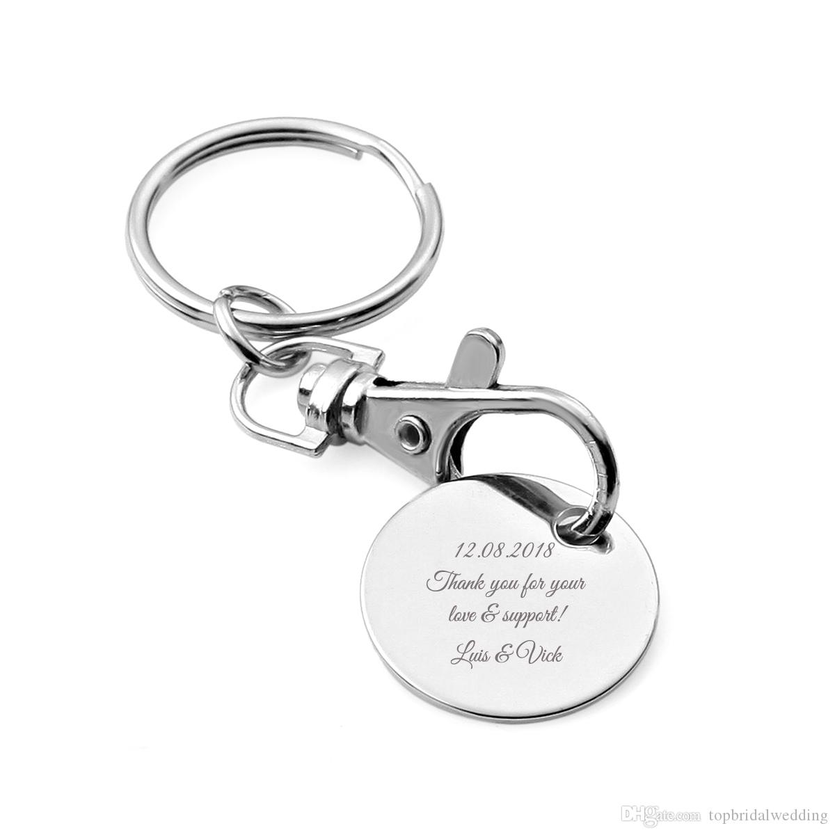 Personalized Wedding Gift For Guests,Custom Keychain Wedding Favor ...