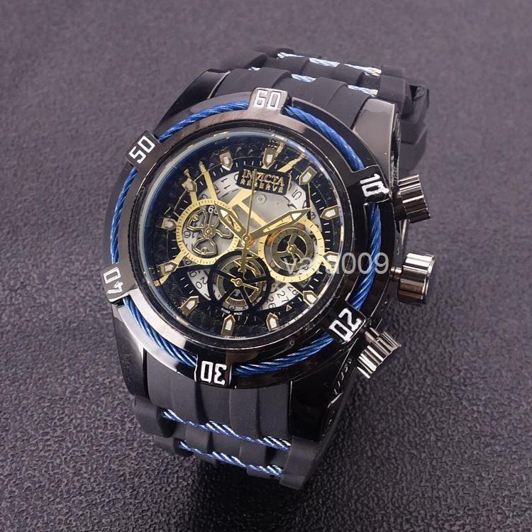 b5f79594507 Compre Qualidade Big Dial Relógio Invicta Reserve Pequeno Trabalho De  Discagem Ao Ar Livre Esportes Homens Relógio Marca De Luxo Relógio De  Quartzo De ...