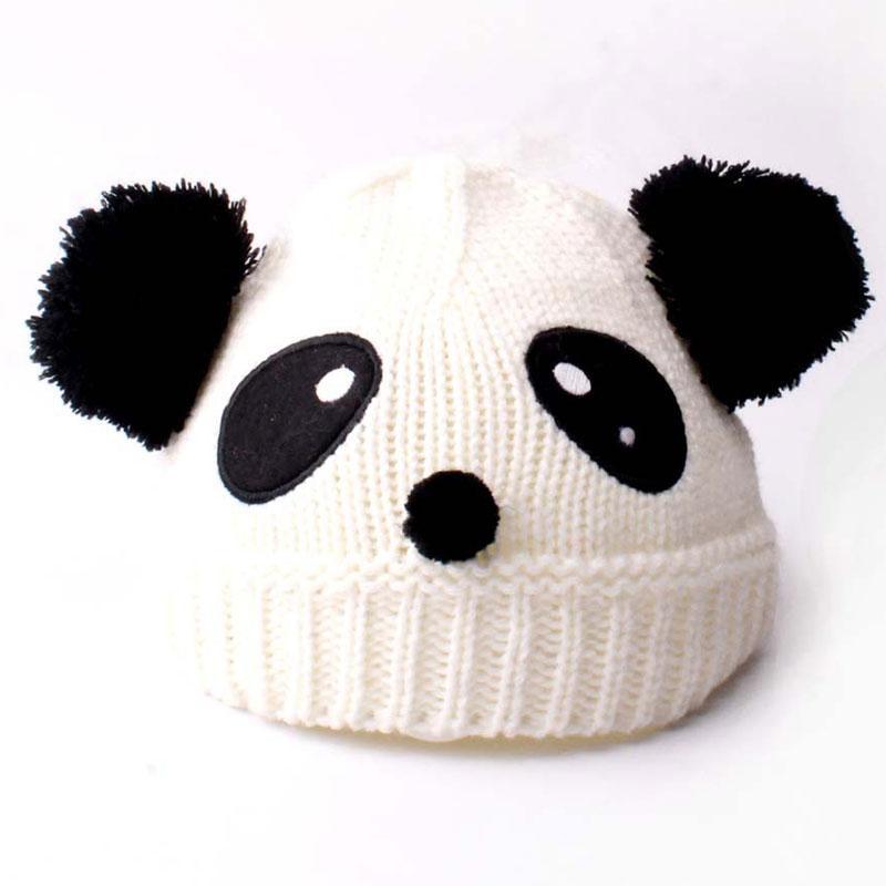 Compre Elástico 2 4 Años Panda Para Niños Animal Beanie Knitted Pom ...