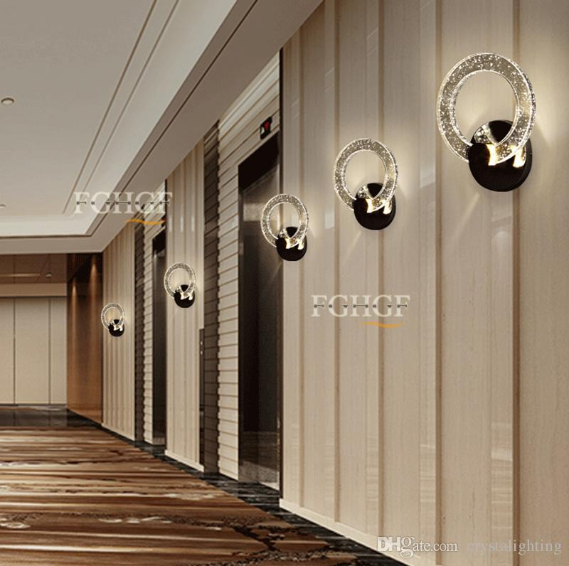 Modern LED Wall Lamp Round Circle Lamp Bedroom Lights Luminaire Dimmable bubble Sconce Beside Lamp 100% Guarrantee