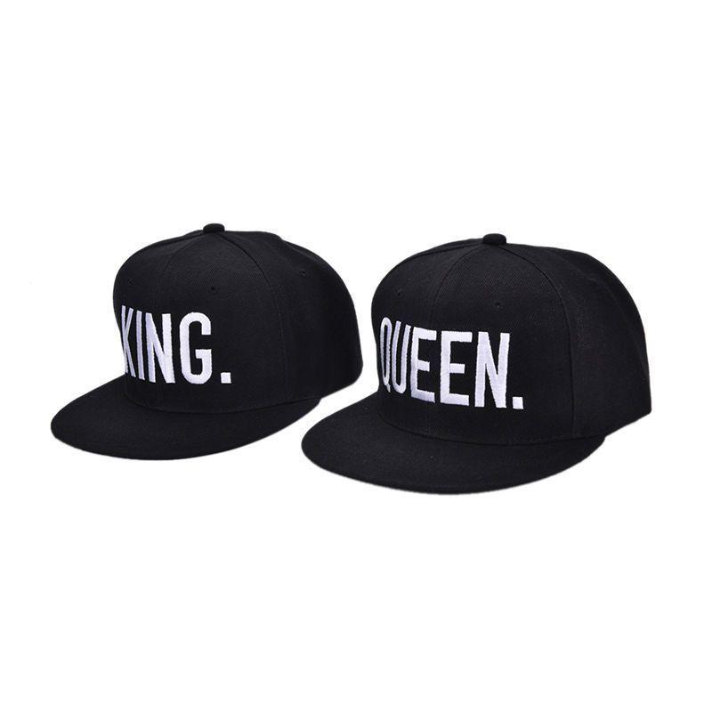 18cd85d8eb2 New King Queen Couples Fashion Cotton Men women Hip-hop Baseball Cap ...