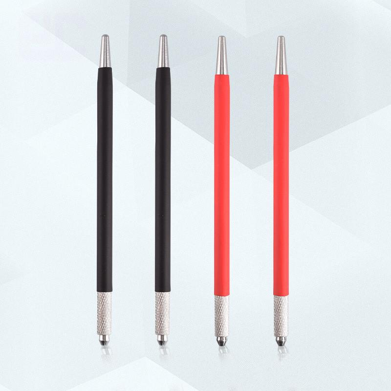 Korean Semi Permanent Fog Foggy Handcrafted Handmade Pen Cross Word Opening Double Use Floating Embroidered Eyebrow Red Tattoo pen