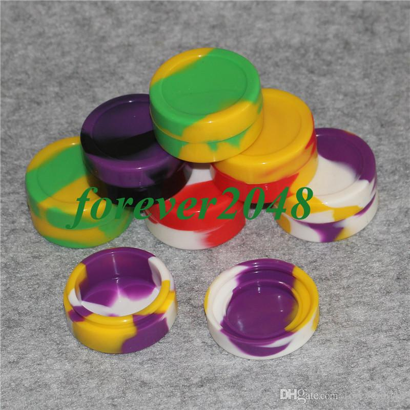 Reusable 22ml silicone wax box Non-Stick silicone oil container for E-cig atomizer wax silicone jars dab wax containers