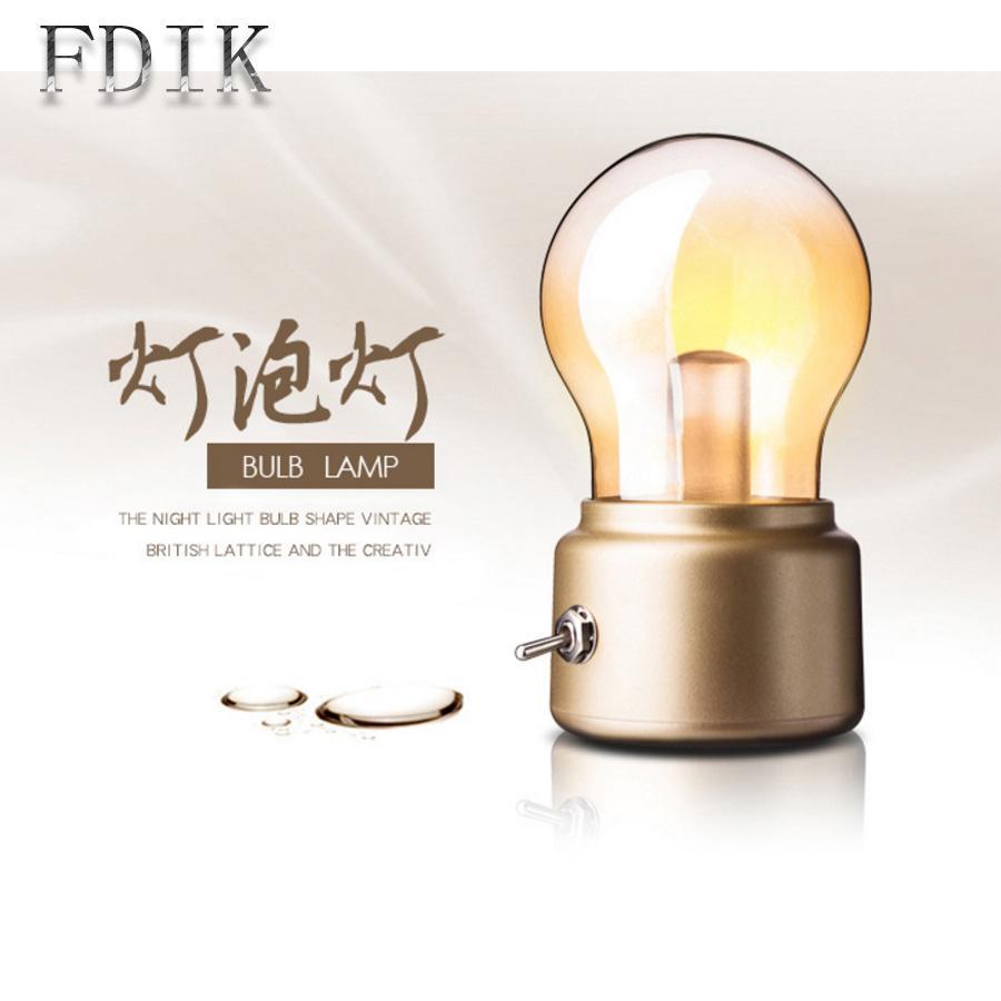 Acheter Usb Rechargeable Petite Veilleuse Vintage Ampoule Mini