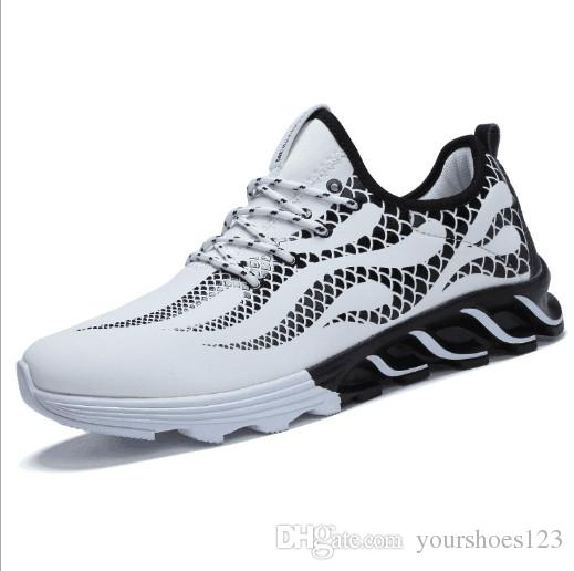 9286cbaeddb0 2018 New Spring Breathable Sport Shoes for Cool Men White Black Blue ...